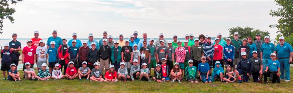 The 2017 RISAA Youth Fishing Camp participants and instructors.