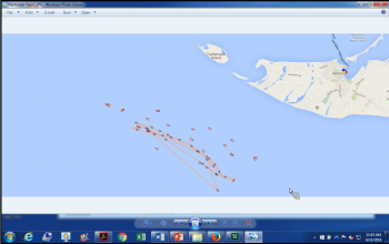 AIS shot of squid boats working off of SW corner of Martha's Vineyard.
