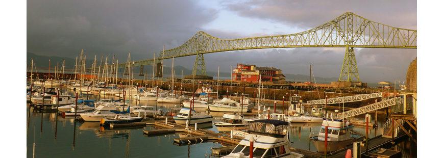Astoria harbor and bridge