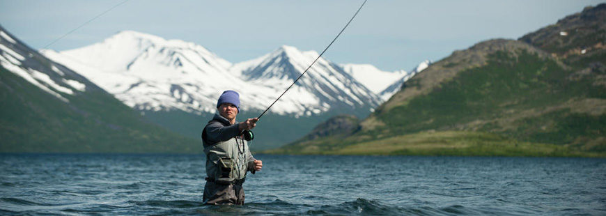 Fly-fishing in Bristol Bay