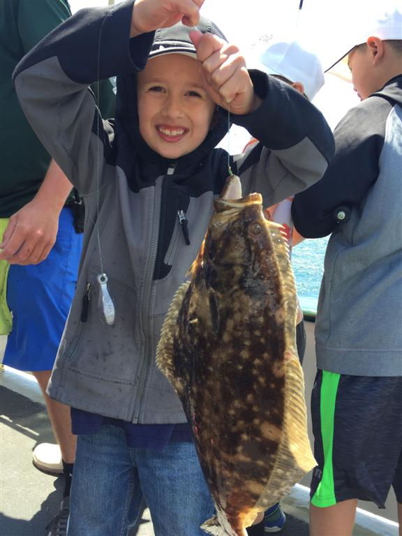Campers fished for fluke and other ground fish on the Seven B's party boat out of Pt. Judith, RI.