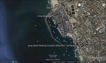 Satellite view of Kings Harbor (note there's only one way in or out)