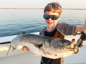Oliver with bluefish