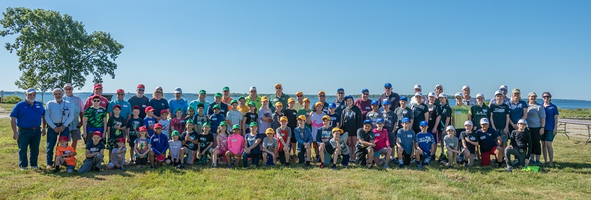 2018 RISAA Youth Fishing Camp participants, volunteers and staff.