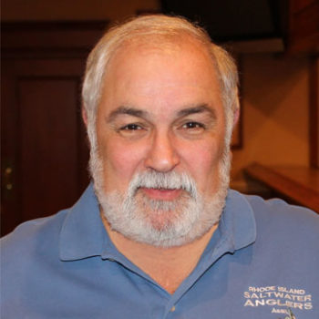 Steve Medeiros, president of the RI Saltwater Anglers Association since its inception over 20 years ago.