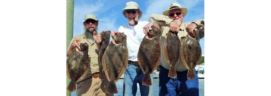 Summer flounder (like these caught on the author's charter boat) have had a declining spawning biomass for six years