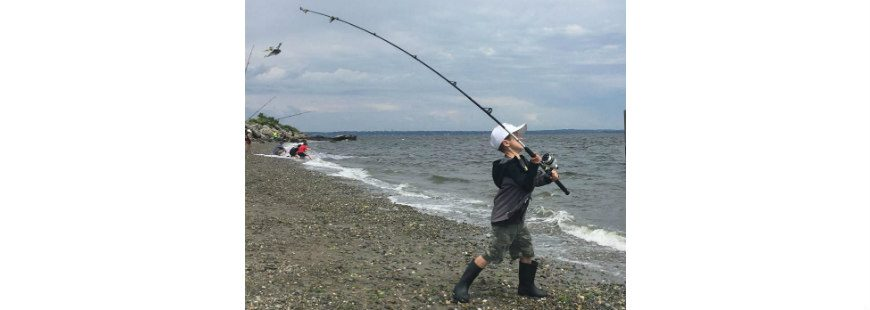 Youth fishing camp participants caught on quickly. By day three, they were casting from shore like pros.