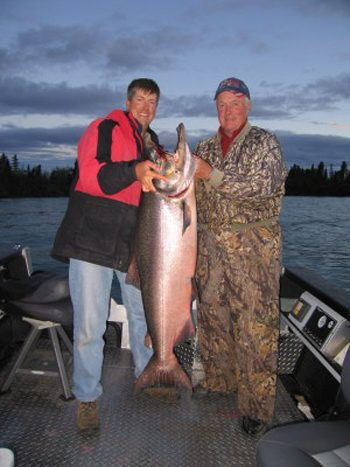 Bob Rees with a big one. Top: Chinook, via NOAA.