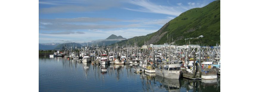 Kodiak Harbor Waterfront, Alaska