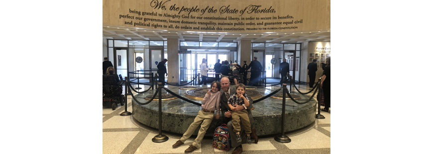 Parents and children visited Tallahassee to speak with lawmakers regarding Florida's sewage issues