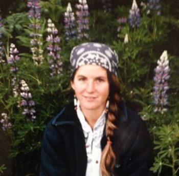 Theresa during her first summer in Homer, Alaska – 1983