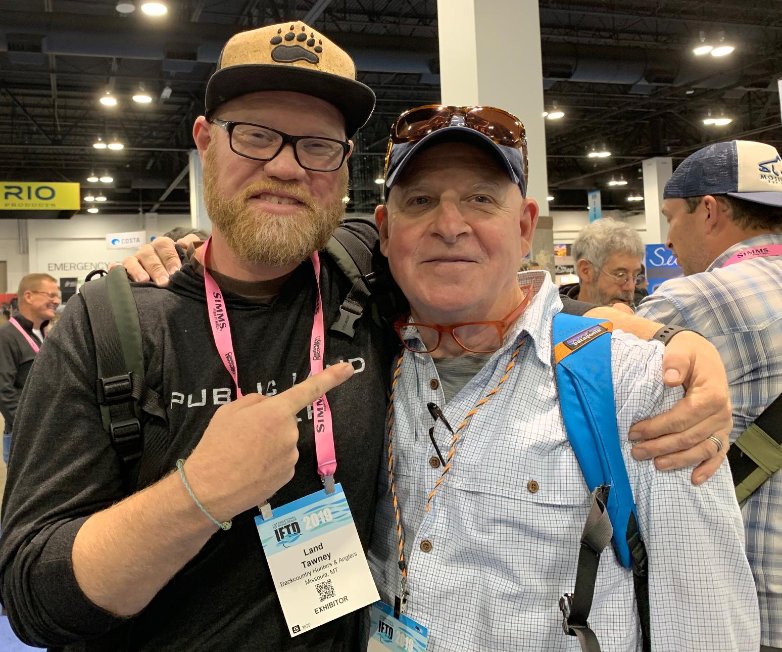 Land Tawney and Tom Sadler; photo by Matt Smythe/AFFTA.