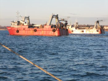 Pair trawlers, photo by deckhand Jason Jarvis.