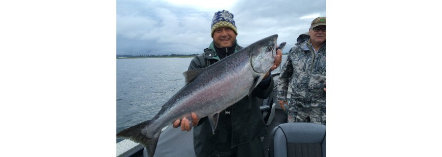 York Johnson with a 23- pound Tillamook Bay hatchery spring Chinook